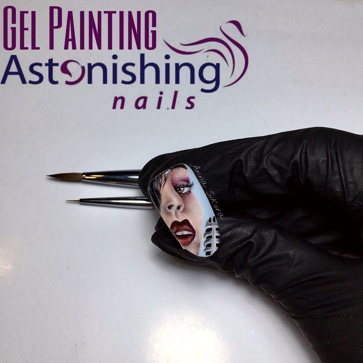 Face gel painting nail art