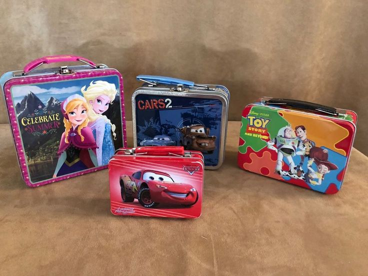 Lot Disney small tin lunch box storage Cars Toy story Frozen  #Disney