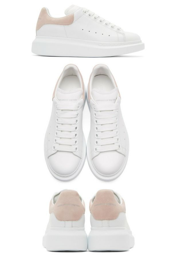 Alexander McQueen White and Pink Oversized Sneakers Low-top ...