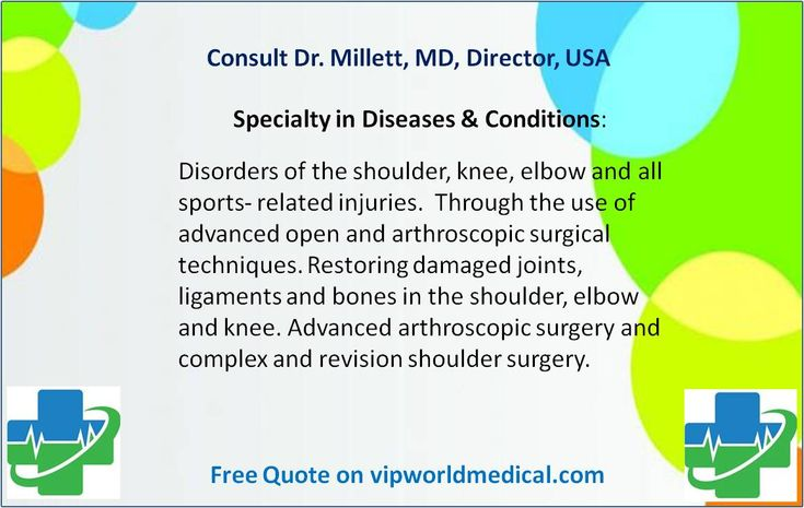 Second Opinion from Dr. Millett, MD, Director of Shoulder Surgery, Knee, Shoulder and Elbow Surgery, Sports Medicine, USA. Medical consultation is exactly based on medical records. View more http://vipworldmedical.com//Modules/Experts/SessionDetails.aspx?Id=63