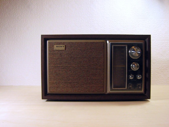 vintage sony table top transistor high fidelity am fm radio bought at garage sale for. Black Bedroom Furniture Sets. Home Design Ideas