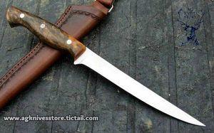 Hand Made High Carbon Steel D2 Flexible Steel Fillet Knife