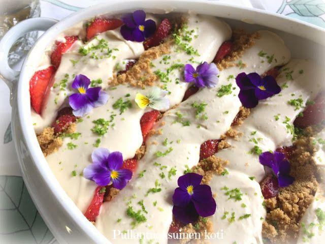 Pullantuoksuinen koti: Mansikka Trifle - Strawberry Trifle