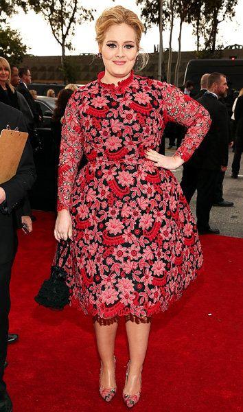 Adele Valentino lors de la 55e cérémonie des Grammy Awards à Los Angeles, en Californie, le 10 Février 2013.
