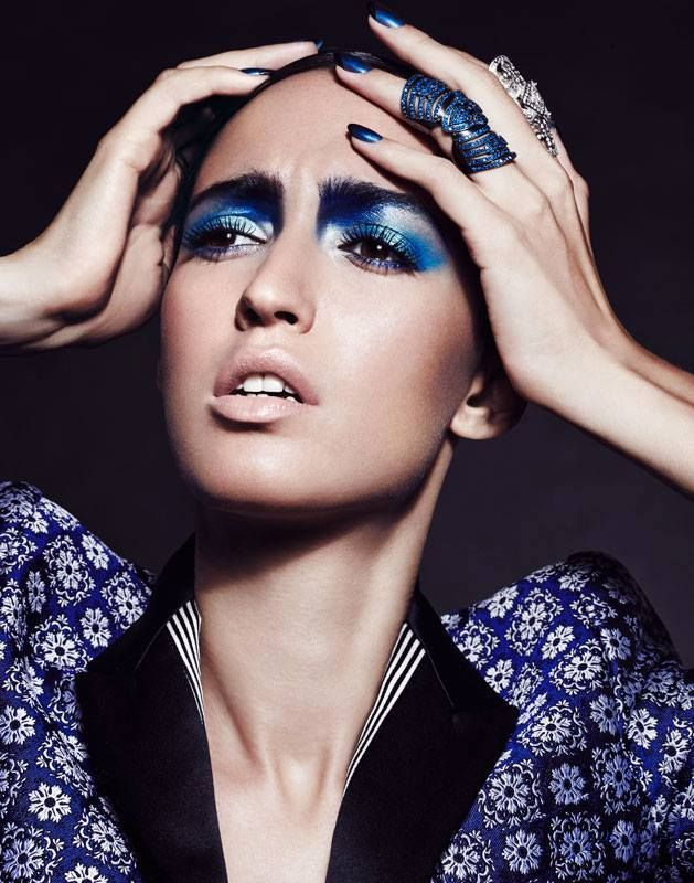Blue Period by Dirk Bader for Vogue India December 2013.