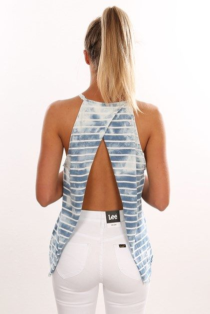 Stripe Through Halter
