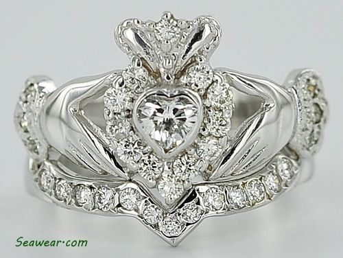 claddagh diamond ring wedding