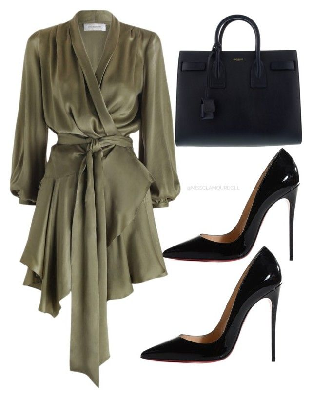 """""""Untitled #204"""" by itsmsfashionista on Polyvore featuring Christian Louboutin and Yves Saint Laurent"""