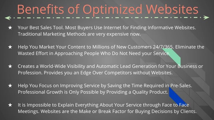 Benefits of #OptimizedWebsites @PJ SEO Specialists