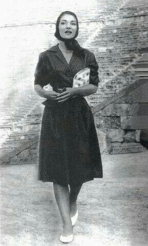 Maria Callas na Grécia em 1959.