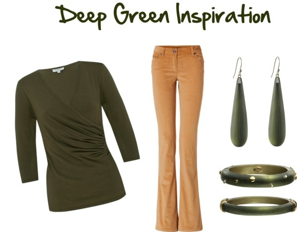 """""""Deep Green Inspiration for Fall"""" by jeaninebyers on Polyvore"""