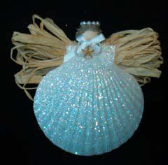 You'll love these glittery seashell angels from the Shop Across the Street--formerly in Sneads Ferry, now in Wilmington!