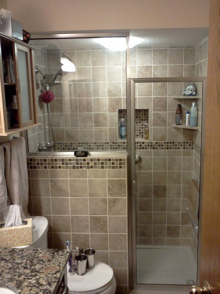 Bathroom remodel conversion from tub to shower with - Pictures of remodeled small bathrooms ...