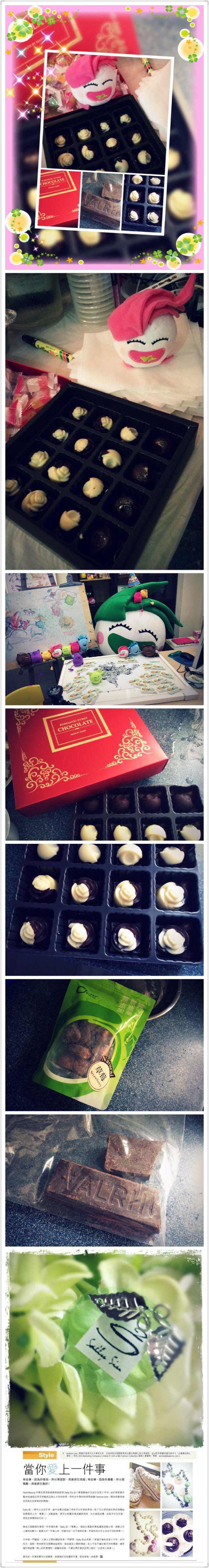 "Special handmade chocolates for my special dear ""lea 間工作室"" 2nd anniversary ^^ enjoy!!   Favours:  1. 100% dark chocolate w/ dry strawberry 2. Marble 35% milk x 100% dark   品嚐區 Fanpage: https://m.facebook.com/SAlleeesiu/?  分享 link: http://siusally.blogspot.hk/2014/08/salleeechocolate-strawberry-dark-white.html?m=1  莎莉。品味儷人將手做作品巳全數捐贈 U heart「兩地一心管理下的 Lea is Me愛德教育基金協助提升祖國教育及社會上有需要的社群。」  Charity 分享link: http://siusally.blogspot.hk/2014/04/salleeecharity-u-heart-n-lea-is-me.html?m=1"