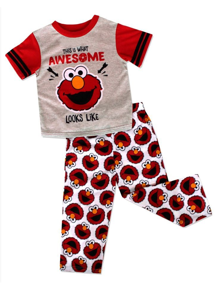 d4437b6f9b Go on an adventure with Elmo wearing these awesome Sesame Street 3 piece  polyester pajamas! This pajama set includes a short sleeve top…