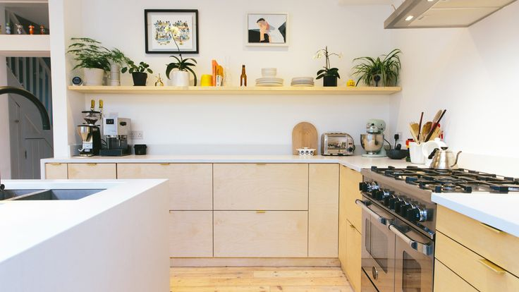 Startup company Plykea has launched a series of birch ply doors and worktops that can be attached to Ikea's Metod kitchen cupboards.