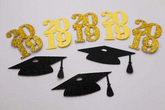 Graduation Confetti| Graduation Caps Confetti| Class of 2019 Confetti| Graduation Decor| Graduation Set Confetti| Card Making | Die Cut