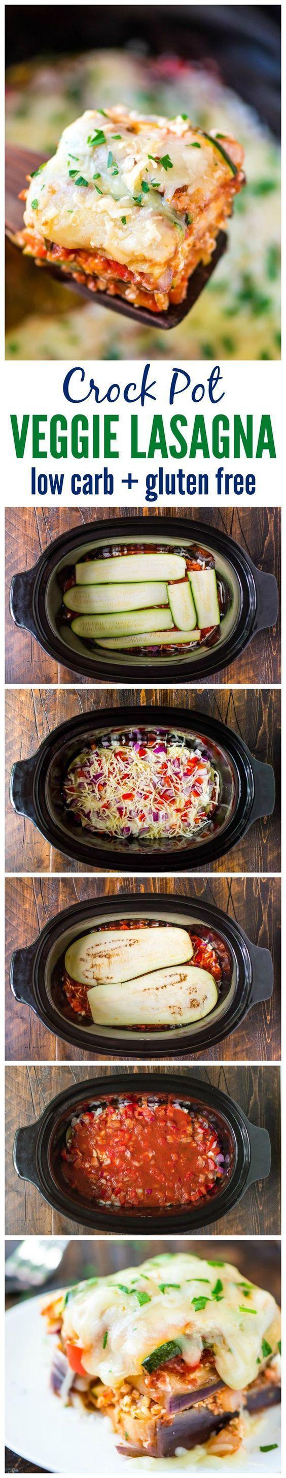 Clean Eating Crock Pot Low Carb Lasagna Recipe