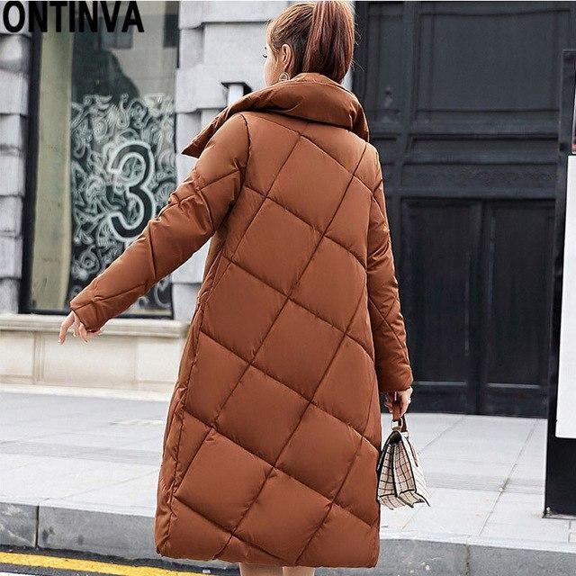 2018 Jackets Women Camperas Mujer Abrigo Invierno Coat Women Park Plus Size 3Xl With Hat Cuffs Zipper Thick Wear caramel XXL
