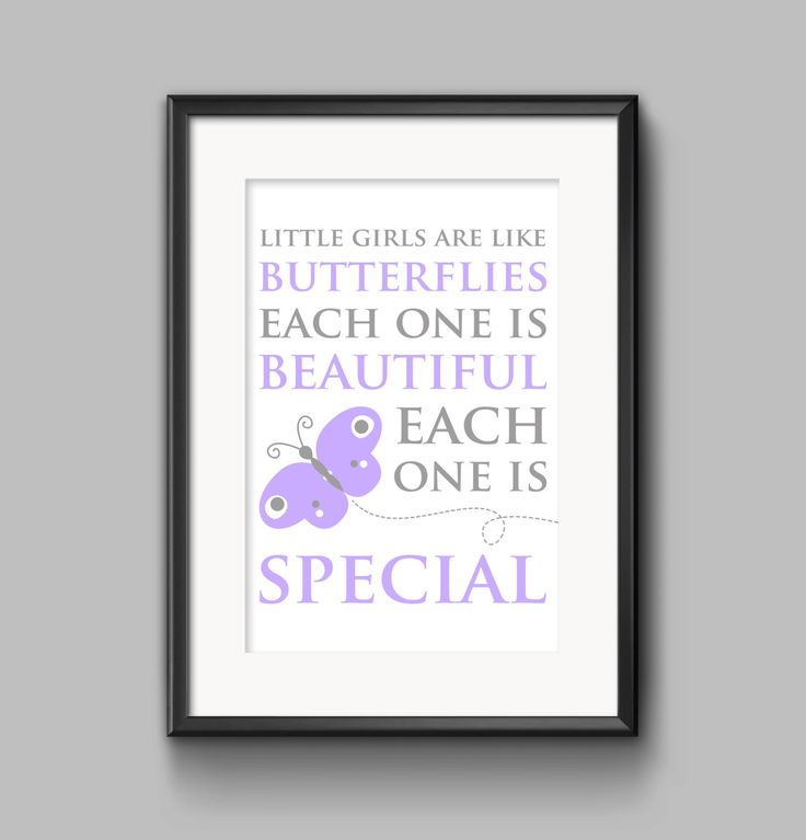 Digital Download Nursery Butterflies Butterfly Beautiful Special Lavender Purple Gray White Baby Girl Typography 8x10 Wall Art Decor Print by indulgemyheart on Etsy https://www.etsy.com/listing/260938258/digital-download-nursery-butterflies