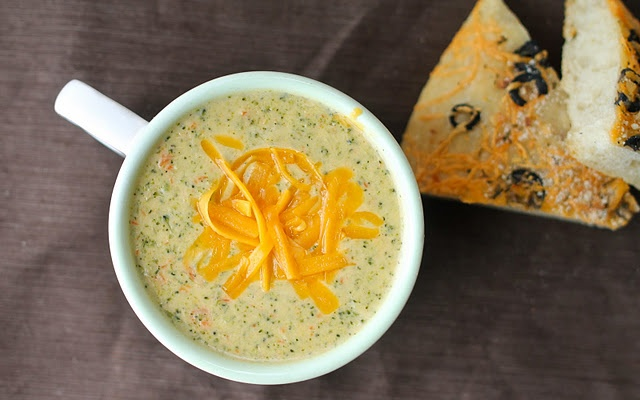 Panera's broccoli cheese soup copycat. I've got to try this. Madison and I get this every time we go to Panera.