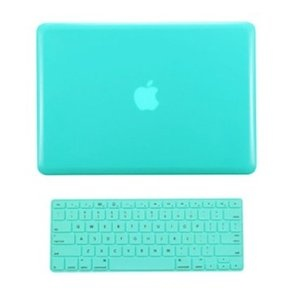 "TopCase® 2 in 1 Turquoise Blue Crystal See Thru Hard Case Cover and Keyboard Cover for Macbook Pro 13-inch 13"" (A1278/with or without Thunderbolt) with TopCase® Mouse Pad"