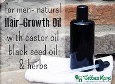 Does the man in your life need some extra help when it comes to hair growth? This natural hair growth oil contains castor oil, black cumin seed oil, rosemary oil and lavender essential oil to naturally stimulate hair.