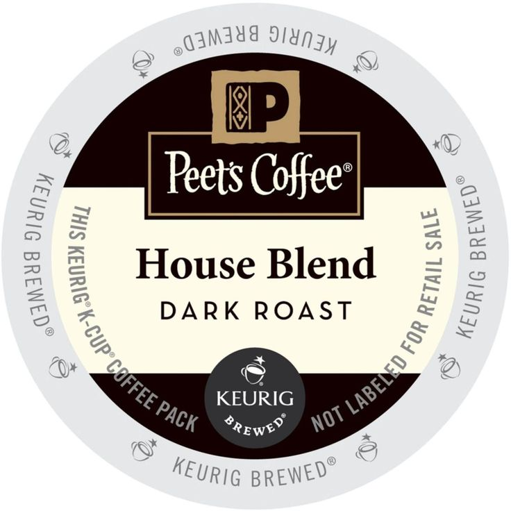 Green Mountain Peet's Coffee House Blend Single Cup Coffee for Keurig K-Cup Brewers 88 Count