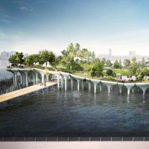 "Thomas+Heatherwick+to+build+$130+million++""treasure+island""+on+New+York's+Hudson+River"