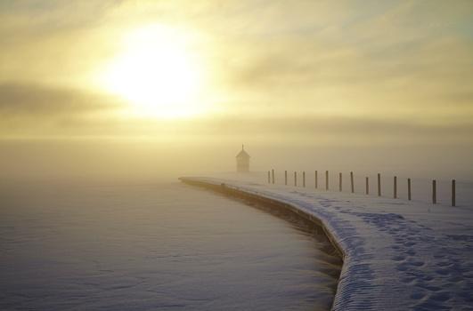 Vinter i Västerås, Mälaren, Piren