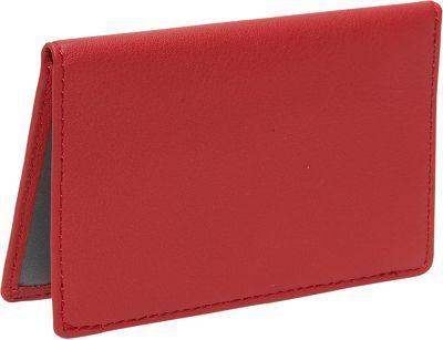 Royce Leather Mini ID Case Red - via eBags.com!
