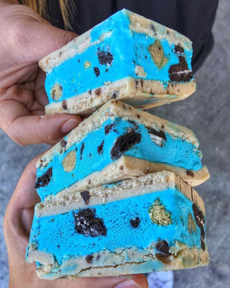 Cookie Monster Ice Cream Bars @alimatthews88