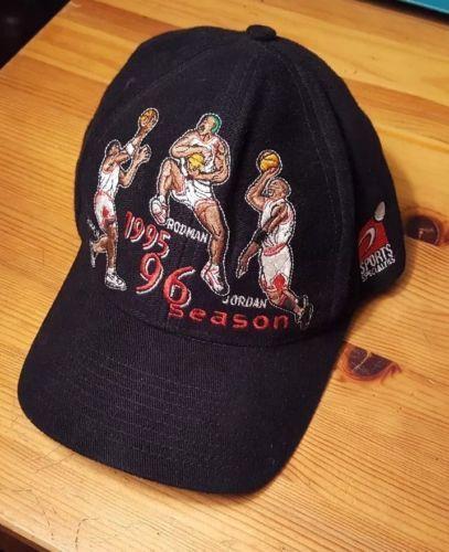 Vintage Chicago Bulls 1995 96 Season Michael Jordan Cap Rare Snapback please retweet