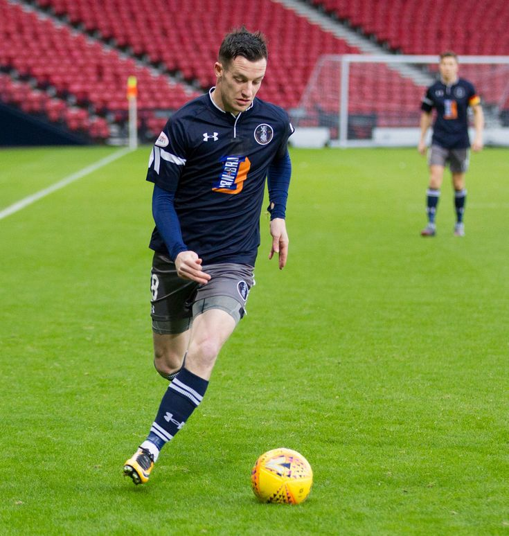 Queen's Park's David Galt in action during the SPFL League One game between Queen's Park and East Fife.