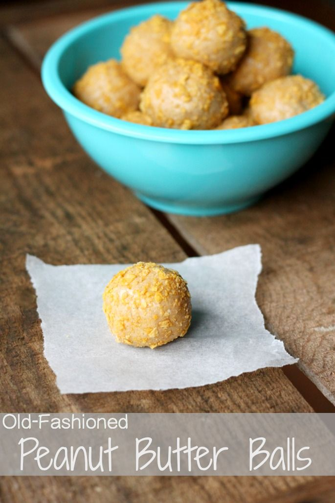 Old-Fashioned Peanut Butter Balls made with only 3 ingredients!