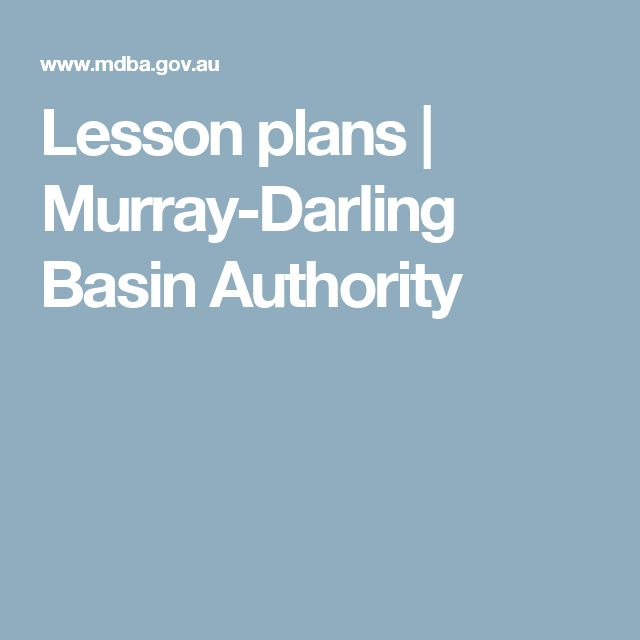 Lesson plans | Murray-Darling Basin Authority