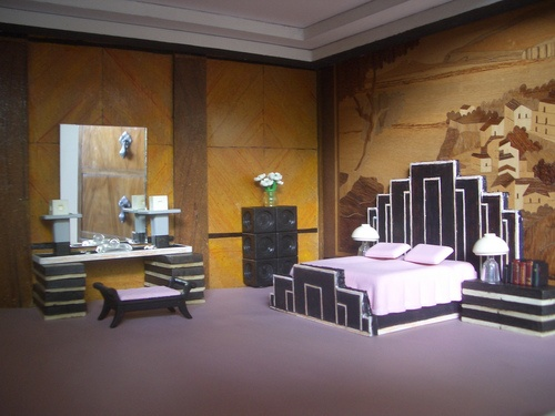 Modern Art Deco bedroom furniture and decor for dollhouse. 191 best Art Deco images on Pinterest   News  Art deco art and Art