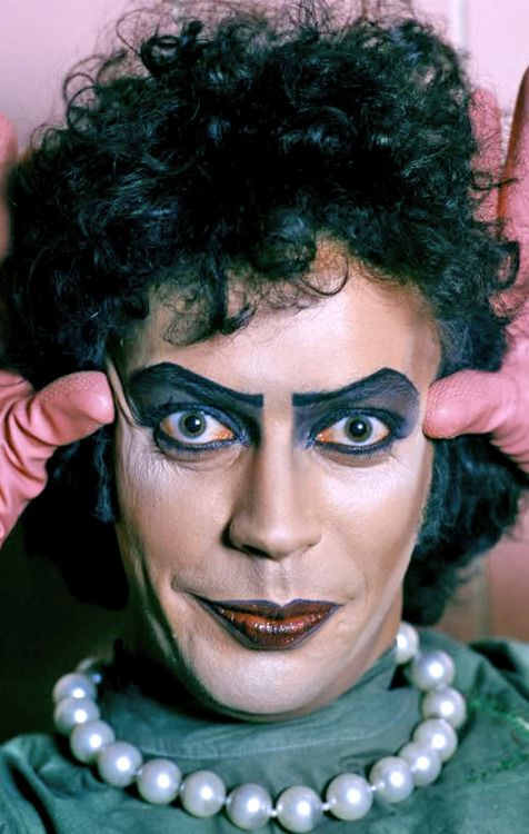 Tim Curry as Dr. Frank-N-Furter in 'The Rocky Horror Picture Show', 1975.