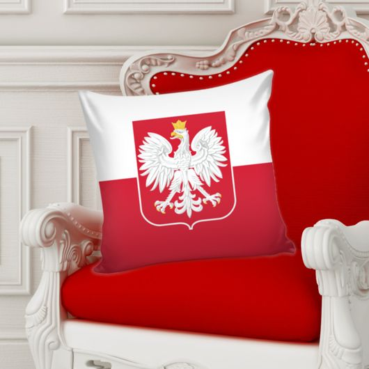 Polish flag pillow cover, Polish eagle home decor