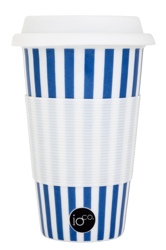 blue and white stripe... one for the boys...   ioco coffee and tea traveller...     shop now www.ioco.com.au