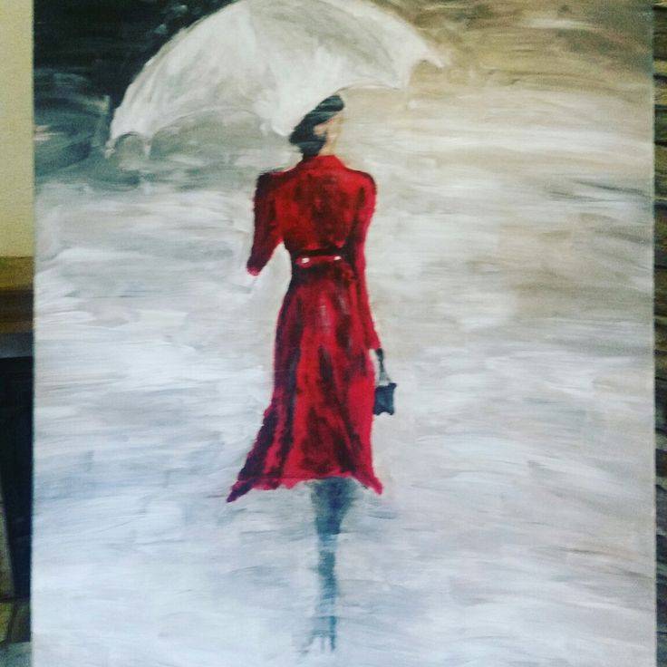Lady in  red acryl
