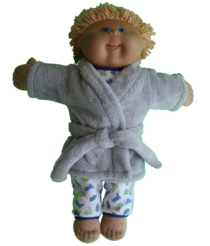 "17"" Cabbage Patch Kids bathrobe free pattern"