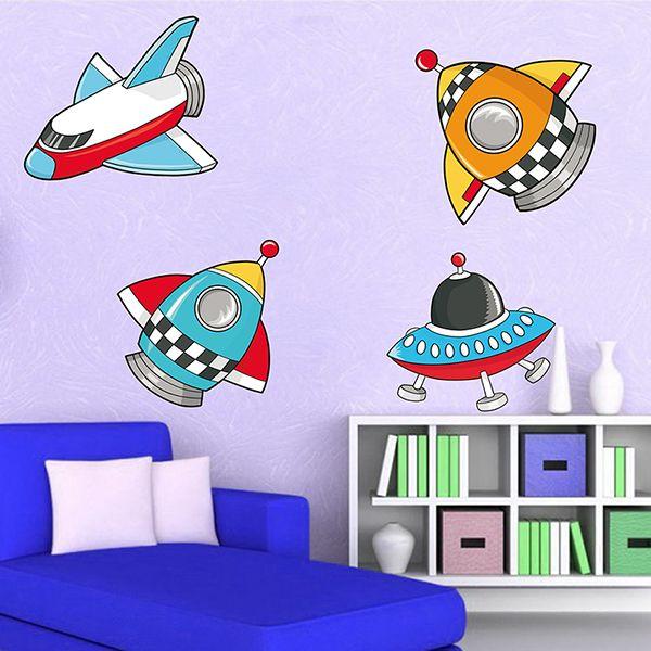 Adesivi per bambini: Space Adesivi murali bambini a kit. #adesivimurali #decorazione #modelli #mosaico #razzi #navi #StickersMurali