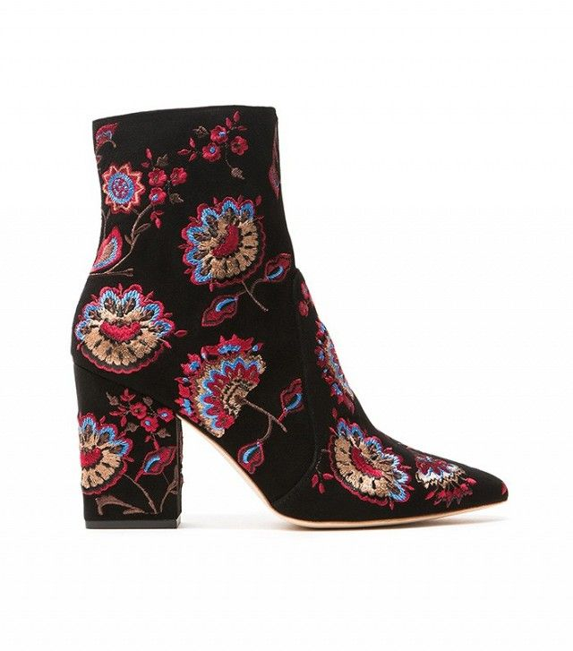 Loeffler Randall Isla Embroidered Ankle Boot