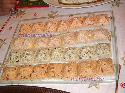 Pastas para sándwiches o canapés