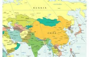 Map of China and Central Asia - Bing Images