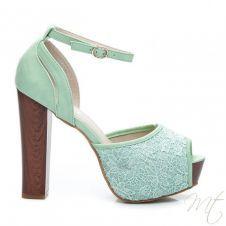 Dámske zelené sandále