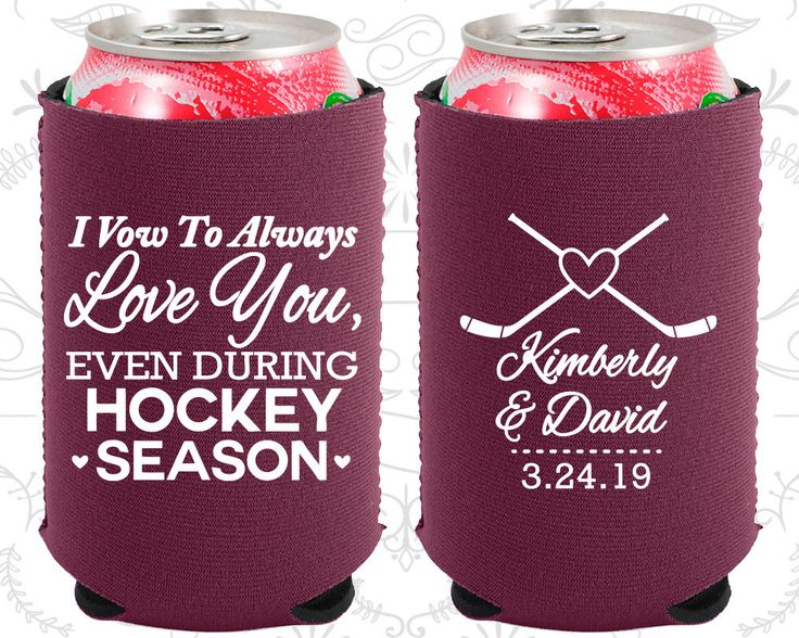 I Vow to Always Love You, Even During Hockey Season, Neoprene Wedding, Hockey Wedding, Neoprene Wedding Favors (306)