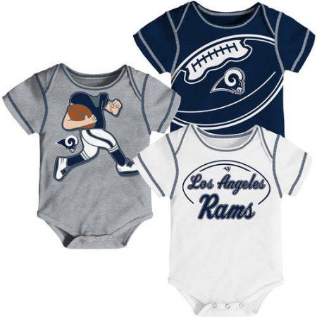 NFL, Team: LA Rams ,NB/INF 3 Pack Creepers, Team Color/Grey/Alternate Team Color, Assorted