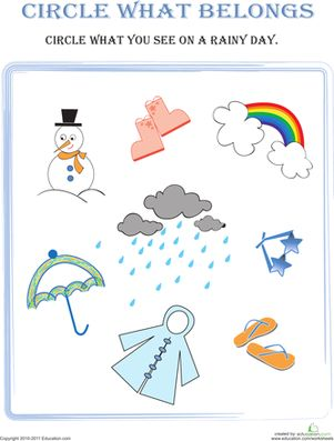 Worksheets Categorizing Worksheets 1000 images about preschool learning on pinterest emergent sorting categorizing weather seasons worksheets circle what belongs rainy day